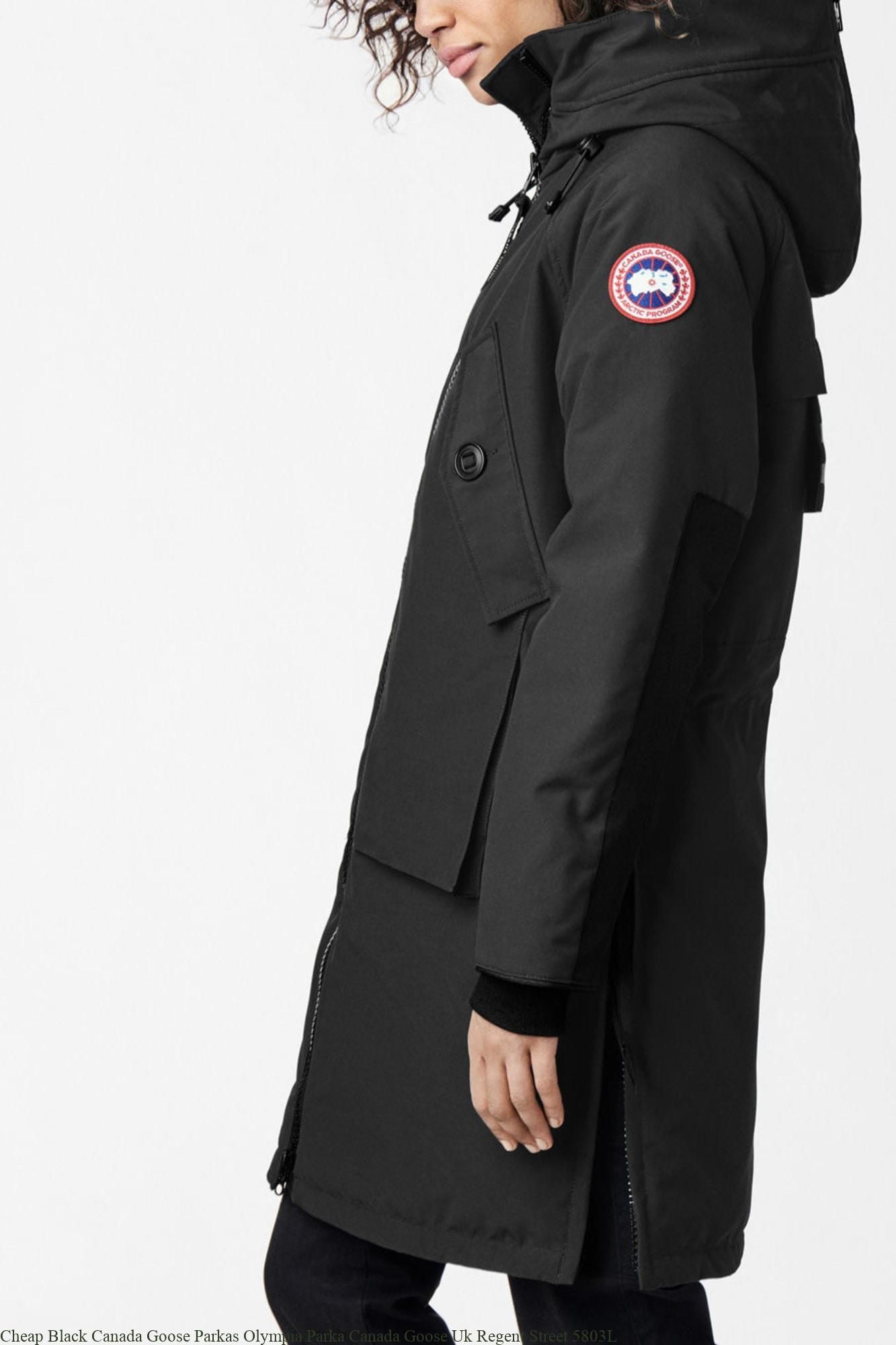 366dce6a8f4 Cheap Black Canada Goose Parkas Olympia Parka Canada Goose Uk Regent Street  5803L