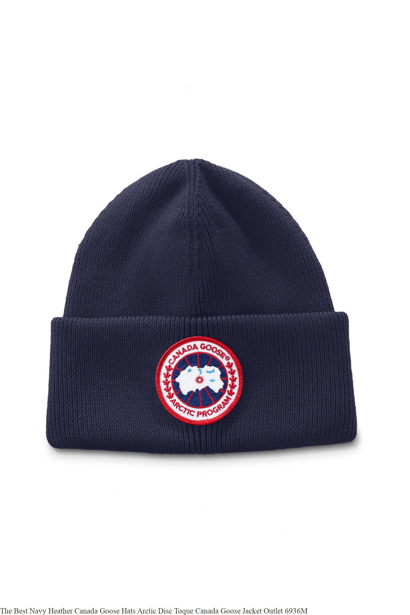 8c29e490330 The Best Navy Heather Canada Goose Hats Arctic Disc Toque Canada Goose  Jacket Outlet 6936M
